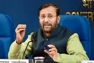 Union HRD minister Prakash Javadekar. Photo: PTI