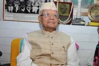 A file photo of N.D. Tiwari. He was a 3-time chief minister of Uttar Pradesh. He was also the Uttarakhand CM from 2002-2007. Photo: Hindustan Times