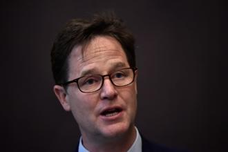 Clegg was the leader of Britain's Liberal Democrats, the minority partner in the Conservative-led coalition that ruled Britain between 2010 and 2015. Photo: Reuters