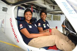 Captain Keithair Misquitta (left) and Captain Aarohi Pandit.