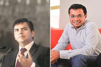 Ola founder and CEO Bhavish Aggarwal and Flipkart co-founder Sachin Bansal.