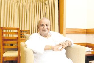 Former Prime Minister and JD(S) supremo H.D.Deve Gowda. Photo: Hemant Mishra/Mint