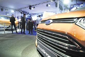 For the first time in its history, Ford India sales scaled $1 billion during the year ended 31 March. Ford sells cars such as the Ecosport in India. Photo: Ramesh Pathania/Mint