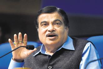 Transport minister Nitin Gadkari said he would try to convince the finance ministry to bring down tax rates on Indian ships. Photo: HT