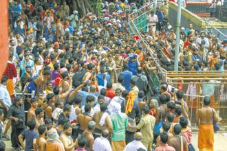 Protests refuse to die down in Kerala. Photo: PTI