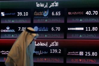 Saudi Arabia's stock index was down 1.6% in early trading on Tuesday. But it later recovered most of the losses. Photo: Reuters