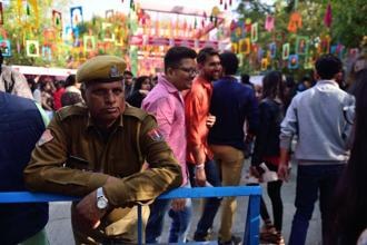 If you want to float past security checks, don't smile. Photo: Pradeep Gaur/Mint