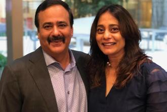 Nirvik Singh, chairman and chief executive for Grey Group Asia Pacific, and Anusha Shetty, founder of Autumn Worldwide.