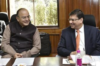 Finance minister Arun Jaitley (left) and RBI governor Urjit Patel. Photo: HT