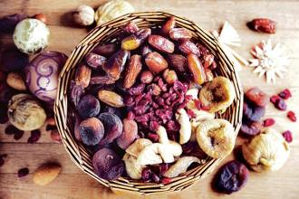A bowl of assorted dry fruits add a nice touch. Photo: iStock