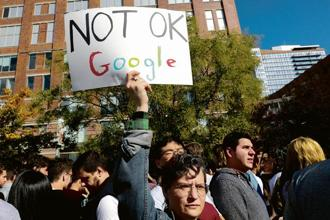 The Google walkout symbolized employees taking a public, collective stand against sexual harassment. Photograph: Reuters