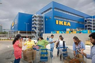 Outside the IKEA store in Hyderabad. The swelling crowds on the store's opening day can be partly attributed to the IKEA effect—the quiet satisfaction that assembling a new furniture kit offers. Photo: PTI