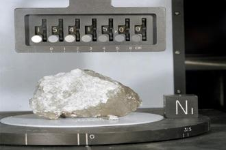 The 'Genesis' rock, brought back from the moon by 'Apollo 15. Photo: Wikimedia Commons