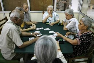 With increasing life expectancy and refined health services, the average population of senior citizens is booming in India. Photo: AP