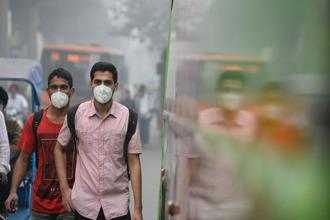 The cause for panic are the spike in the presence of tiny particulate matter known as PM2.5 and PM10 in Delhi's air. Photo: AFP