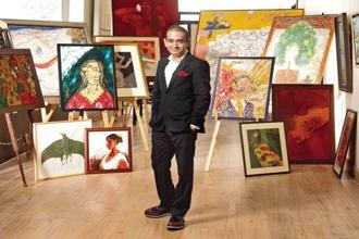 "Nirav Modi placed big artists and their artworks up front in his story of simple-living millionaire boy turned ultra-cosmopolitan billionaire. Both ""Souza's"" at his elbows are fakes."