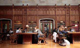 Students study in the law library at the University of Michigan in Ann Arbor. Photo: Reuters