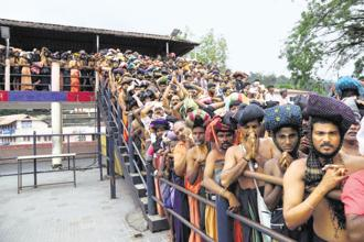 On 28 September, a Supreme Court bench had by a 4:1 majority ruling granted women of all ages the right to enter Sabarimala temple. Photo: Reuters