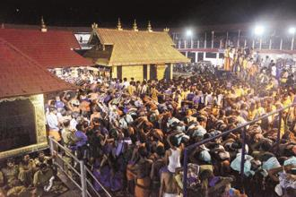 On September 28, a five-judge constitution bench headed by then Chief Justice Dipak Misra, had paved the way for entry of women of all ages into the Sabarimala Temple, saying the ban amounted to gender discrimination. Photo: PTI