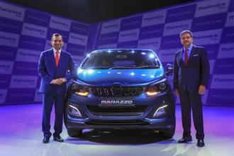 If not for the Marazzo, Mahindra's utility vehicle sales would be falling in the September quarter. Photo: PTI