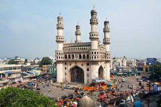 The magnificent Char Minar overlooks Hyderabad's central crossroads. Photo: Alamy