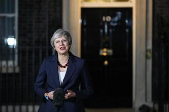 UK PM Theresa May. The cabinet meeting ended without any explicit threats of resignation and everyone unwinding with a glass of wine and some snacks. Photo: Bloomberg