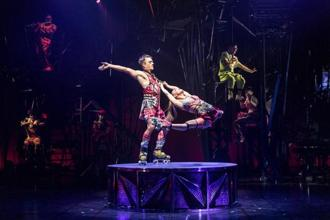 The acrobatic acts at Cirque du Soleil's Bazzar include duo roller skating.