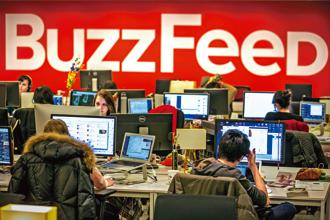 Buzzfeed employees work at the company's headquarters in New York. Photo: Reuters