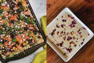 Jazzed up foxtail millet salad; and little millet 'payasam'. Photos: Nandita Iyer
