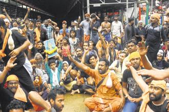 The Sabarimala temple has a ritualistic ban for menstrual age women which was struck down as discriminatory by the Supreme Court recently. Photo: PTI