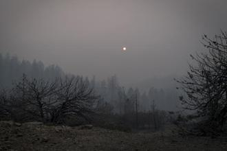 Temperatures in regions affected by the California wildfires have fallen by as much as 6 degrees Celsius. Photo: Bloomberg