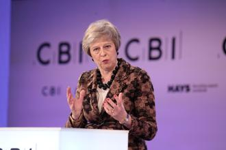 Britain's Prime Minister Theresa May replies to questions after speaking at the Confederation of British Industry's annual conference in London, Britain. Photo: Reuters