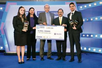 (From left to right) Divya Wadhawan, IIM Bangalore; Chandrima Sinha, vice-president, Invest India; S.C. Kalia, non-executive non-independent director, Yes Bank; Ajai Kumar, non-executive director, Yes Bank, and Mohd Farhan Ansari, IIM Bangalore.