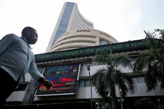 Indian benchmark indices BSE Sensex and NSE's Nifty 50 traded lower following a selloff in global equities. Photo: Reuters