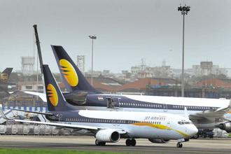Shares in Jet Airways rose as much as 3% on the BSE on Wednesday. Photo: Abhijit Bhatlekar/Mint