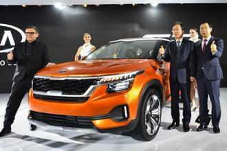 Kia Motors is likely to introduce its SUV in the second half of next year. Photo: PTI
