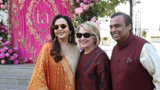 The Clintons and the Ambanis have an association that goes back more than 18 years and have met several times both in India and abroad, according to Indian media reports. Photo: PTI