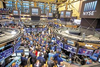 At 9:57 am ET, the Dow Jones was up 256.13 points at 24,626.37. The S&P 500 was up 28.62 points at 2,665.40 and the Nasdaq was up 95.91 points at 7,127.74. Photo: Bloomberg