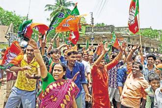 The BJP, which clinched victory by bagging 99 assembly seats, faced its toughest electoral challenges in Gujarat in the last two decades as it lost a lot of ground in Saurashtra. Representative image Photo: PTI