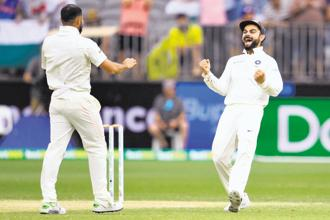 If Virat Kohli was a CEO, would his overtly aggressive behaviour escape scrutiny? Photo: AFP