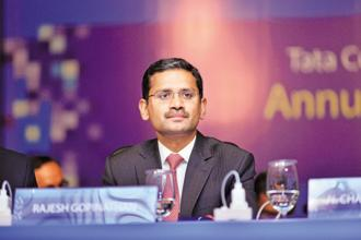 TCS CEO Rajesh Gopinathan. Tata Consultancy Services will declare its Q3 results today. Photo: Aniruddha Chowdhury/Mint