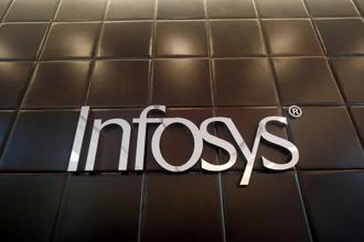 In spite of the drop in quarterly profit, Infosys raised its revenue growth forecast for the fiscal year ending March 2019 to 8.5-9% in constant currency terms, from 6-8% previously. Photo: Reuters