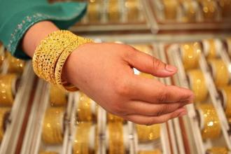 Gold prices today jumped Rs 65 to Rs 33,190 per 10 gram, taking gains over Rs 300 in three days