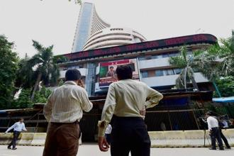 On Tuesday, the Sensex had settled 464.77 points higher