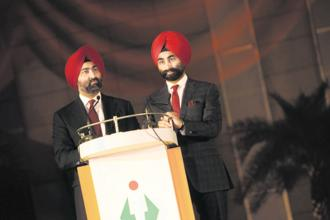 The Singh brothers—Malvinder Singh (left) and Shivinder Singh. Photo: HT