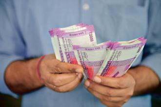The 10-year government bond yield was at 7.26%, below Wednesday's close of 7.273%. Photo: PTI