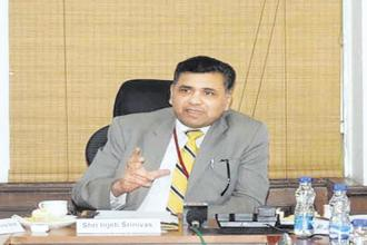 Injeti Sriniveas, secretary in the ministry of corporate affairs. Photo: HNP