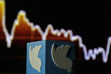 A 3D printed Twitter logo. Photo: Reuters