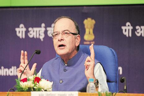 Arun Jaitley, who holds the charge of information and broadcasting ministry besides finance ministry, said the govt was willing to look at the suggestion of having a separate mechanism to deal with broadcasting cases. Photo: Hindustan Times
