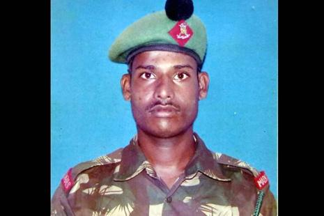 A file photo of Lance Naik Hanumanthappa Koppad. Photo: PTI